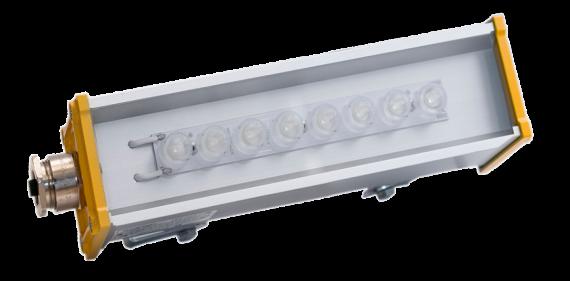 Взрывозащищенный светодиодный светильник со вторичной оптикой LINE-1EX-P-053-40-50
