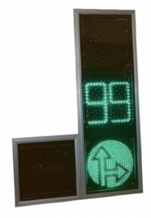 Светофор дорожный светодиодный (Транспортный)Т.1.КСвл2-ТВ-П