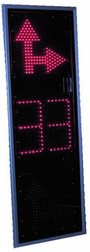 Светофор дорожный светодиодный (Транспортный) Т.2.вп.2-ТВ-П