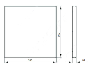 Офисный светодиодный светильник RS 50/4500R микропризма